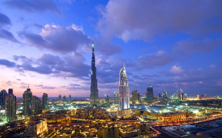Dubai top view HD wallpaper 1