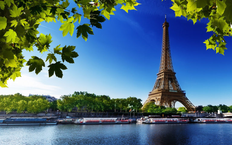 France River & Eiffel Tower HD wallpaper 1