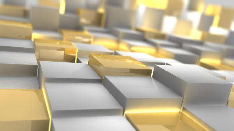 Gold & Silver cubes HD wallpaper