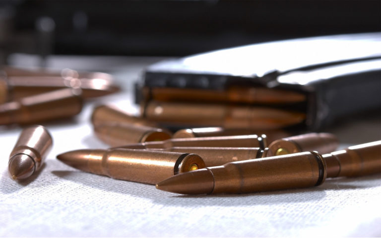 Metal bullets close up HD wallpaper