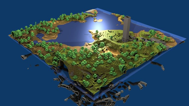 Minecraft world map HD wallpaper