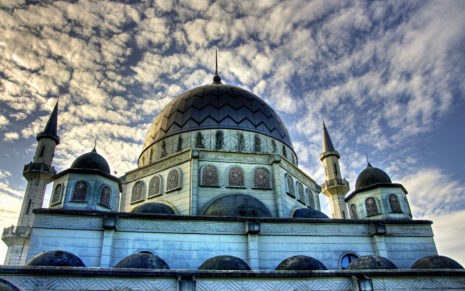 Mosque with magnificence HD wallpaper
