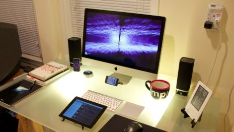 Room of gadgets HD wallpaper