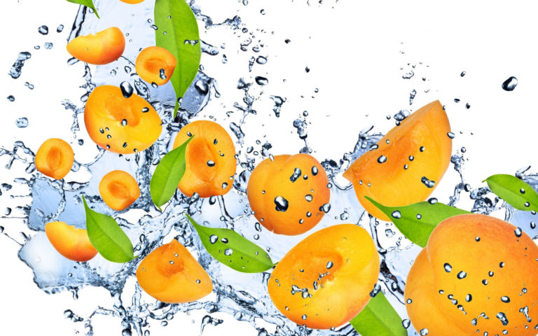 Splashing Apricot HD wallpaper
