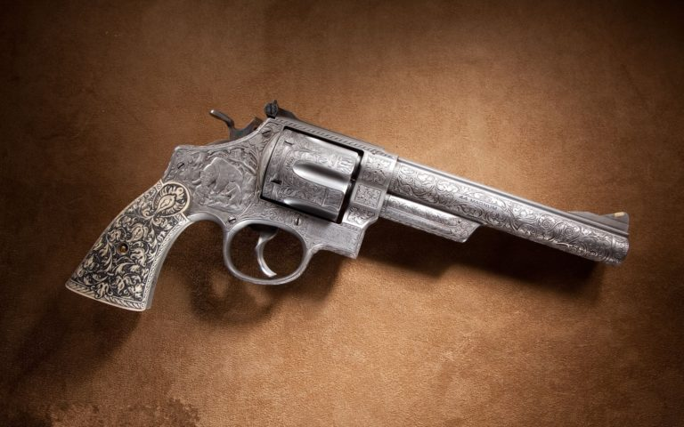 Textured revolver HD wallpaper
