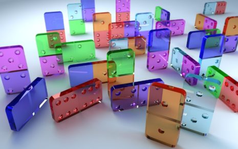 Transparent Dominoes HD wallpaper