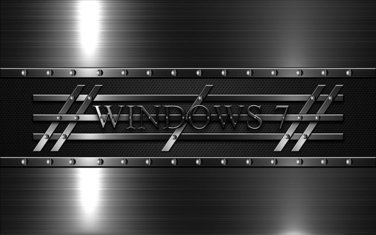 Windows 7 Silver 3D HD wallpaper