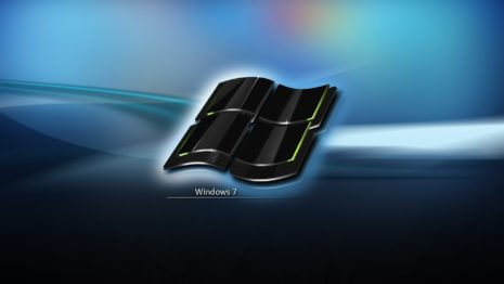 Windows 7 crystal black logo HD wallpaper