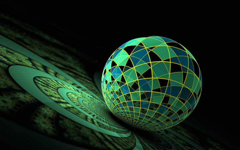 Artistic green ball HD wallpaper