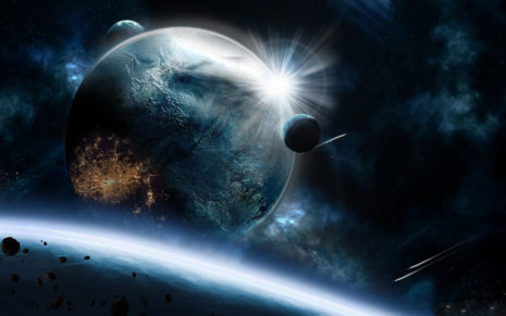 Asteroids speed impact HD wallpaper