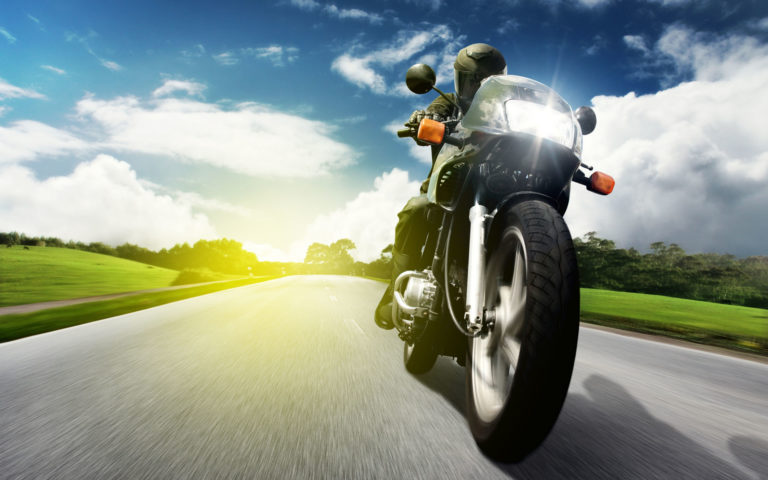 Biker in speed HD wallpaper
