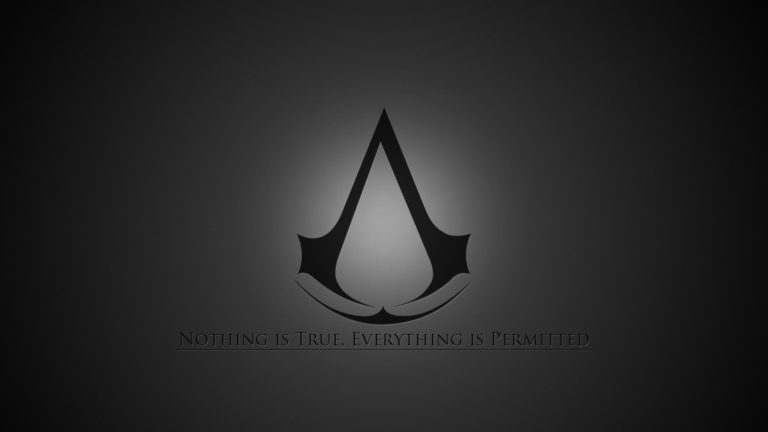 Black Assassins Creed HD wallpaper