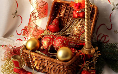 Christmas decoration box HD wallpaper