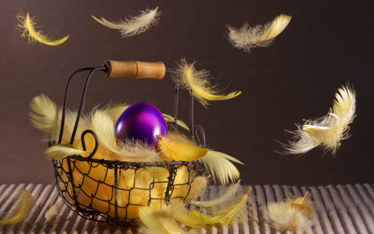 Easter basket HD wallpaper
