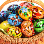 Gift of colorful eggs HD wallpaper