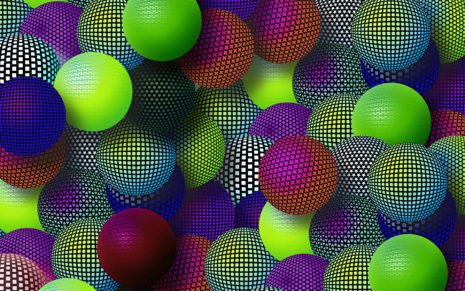 Gift with colorful mesh HD wallpaper