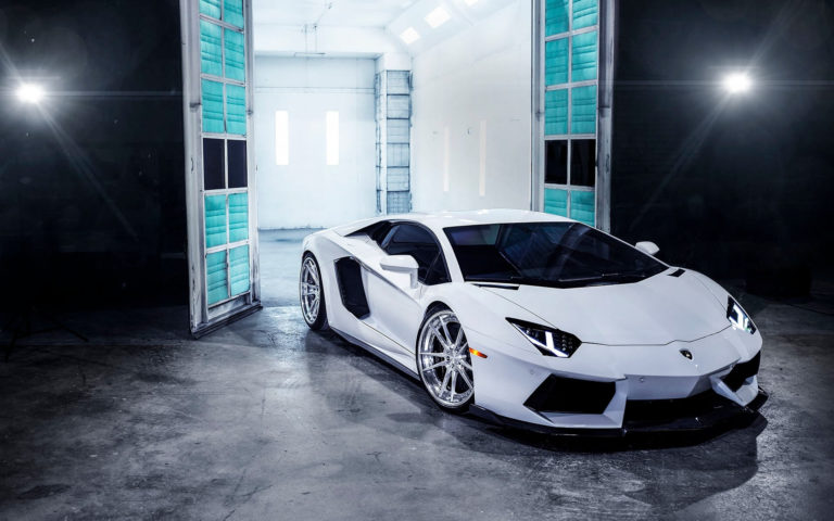 Lamborghini front view HD wallpaper