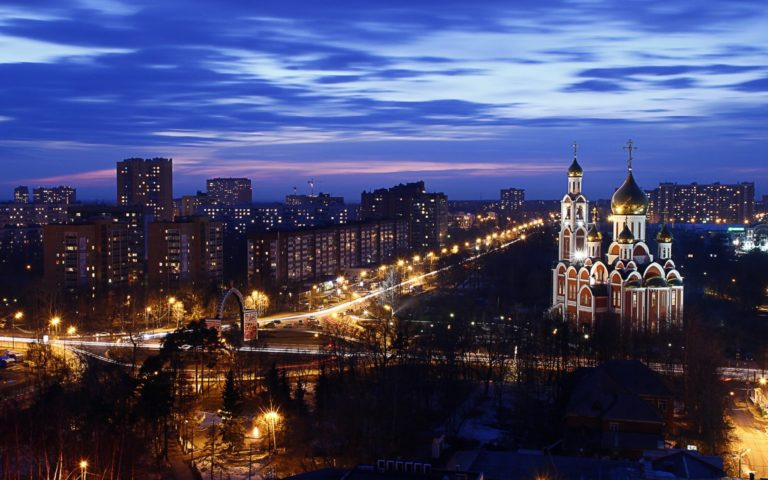 Night in Moscow HD wallpaper 1