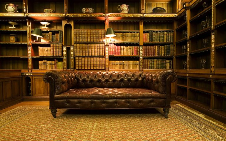 Old library HD wallpaper