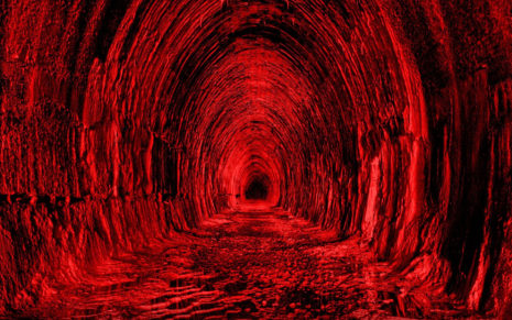 Red Tunnel HD wallpaper