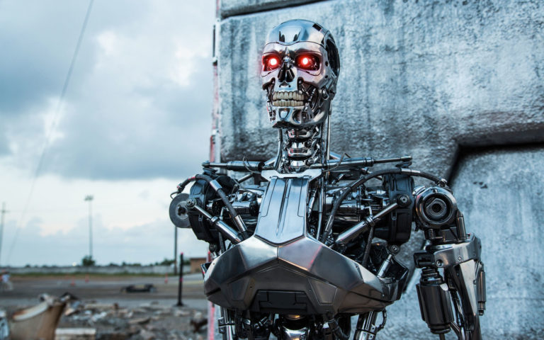 Robot T-800 HD wallpaper
