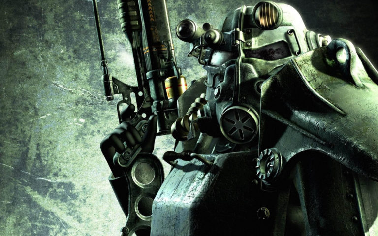 Robot with long rifle HD wallpaper 1