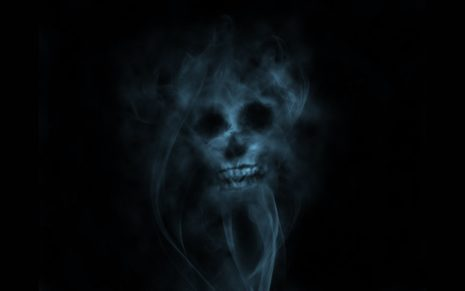 Smoke Skull HD wallpaper