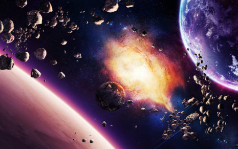 Space explosions HD wallpaper