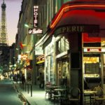 Street Evenings Paris HD wallpaper