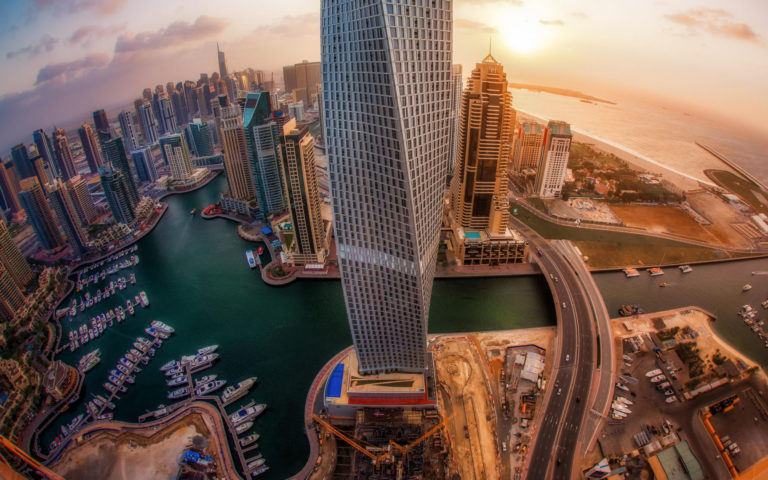 Top view UAE HD wallpaper