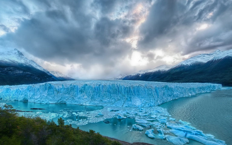 Cold Glaciers HD wallpaper