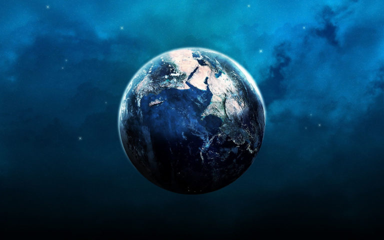 Earth orbit blue HD wallpaper