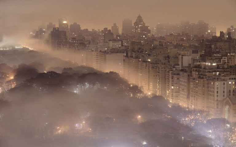 Fogy city HD wallpaper