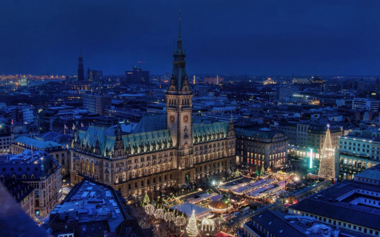 Germany town hall HD wallpaper