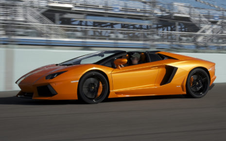 Gold Orange Lamborghini HD wallpaper