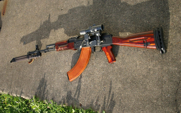 Heavy rifle AK47 HD wallpaper