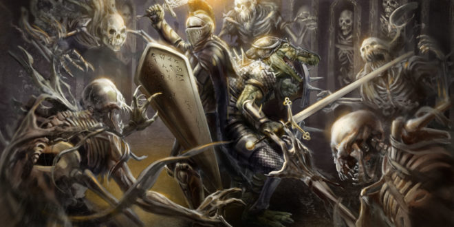 Warhammer Total War 2 Wallpaper 2560 X 1440 Dark Elves: Knight Fighting Ghosts HD Wallpaper