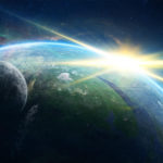 Planet shining with light rays HD wallpaper