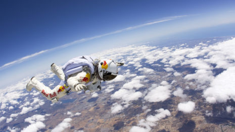 Space diving HD wallpaper