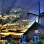 The blue mill house HD wallpaper
