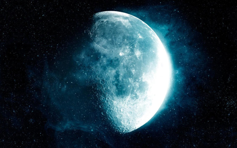 The blue moon HD wallpaper