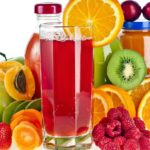 Variety of fruits & juices HD wallpaper 1