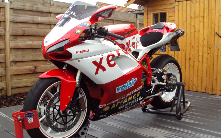 White & Red Ducati HD wallpaper