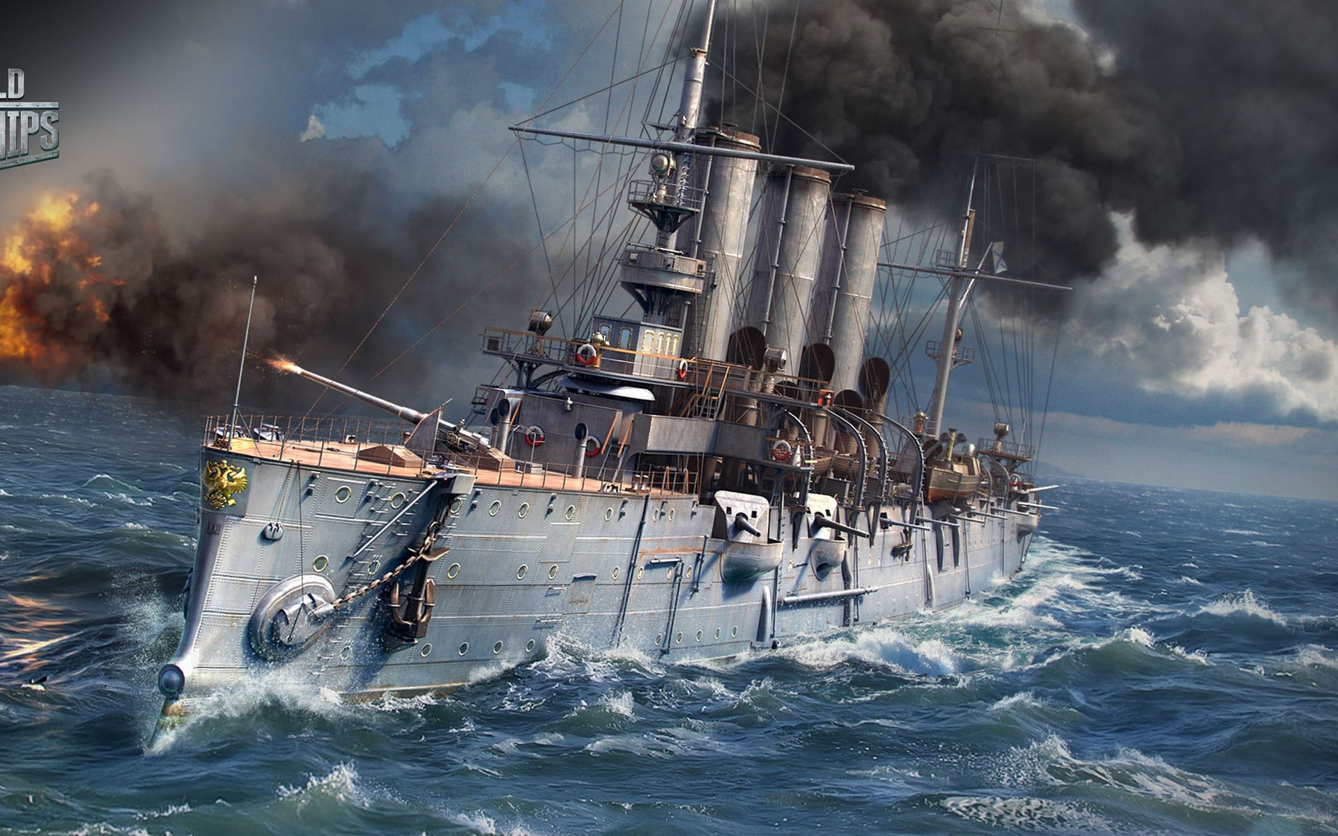 World Of Warships Action HD Wallpaper