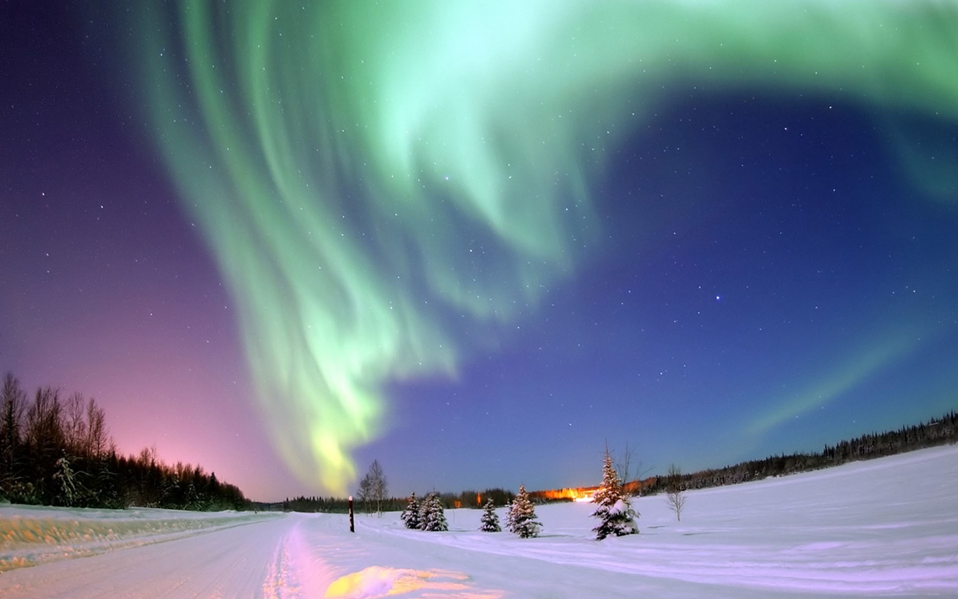 aurora winter hd wallpaper | hd latest wallpapers