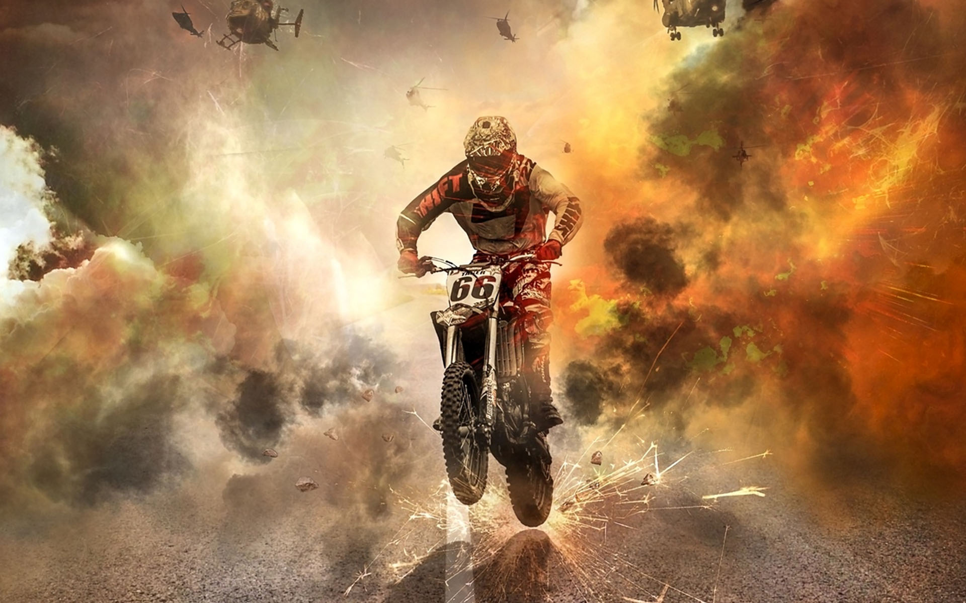 Famous Motorcycle Stunt Riders HD Wallpaper