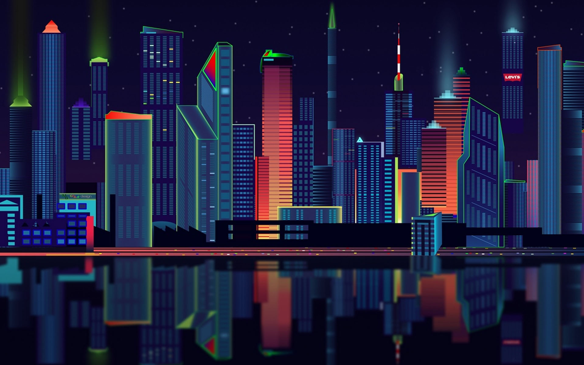 Vector City HD Wallpaper