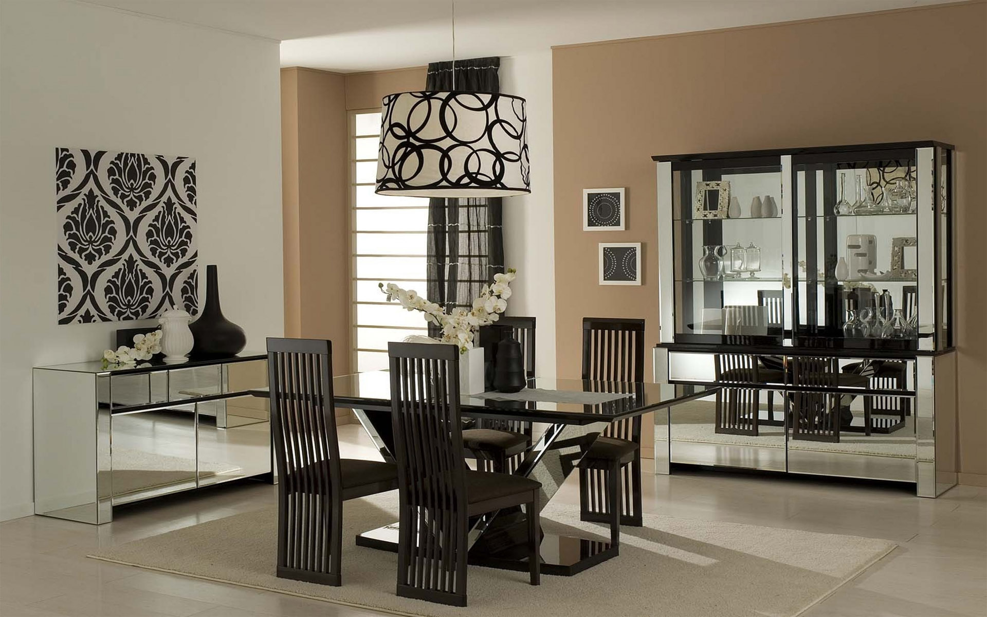 Black And White Dining Room HD Wallpaper   HD Latest ...